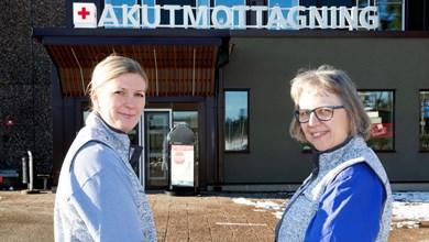 Omsorgskoordinatorerna Anna Elled och Kerstin Ödvall.